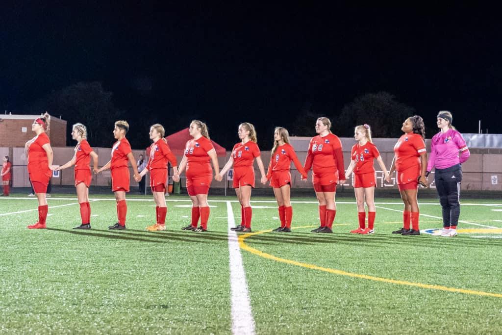 Jeannette Ladies Soccer Senior Night National Anthem